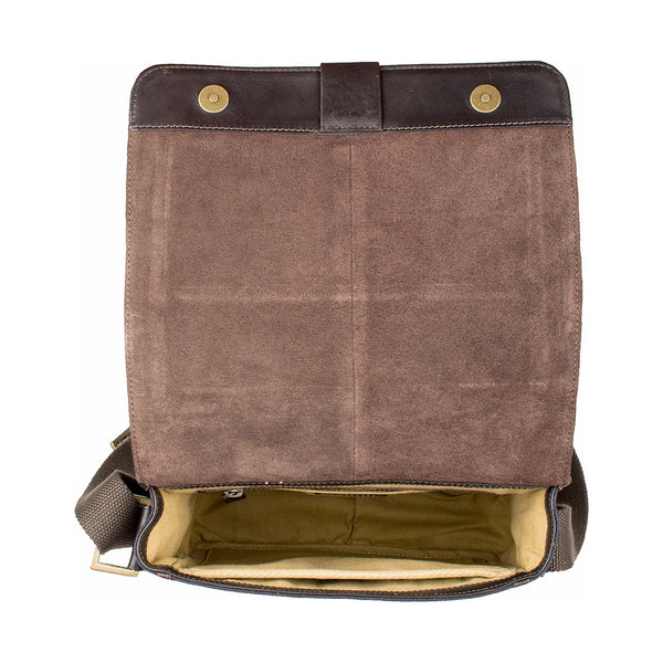 Aiden Medium Canvas and Leather Crossbody
