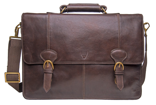 "Parker Large 17"" Laptop Compatible Leather Briefcase"