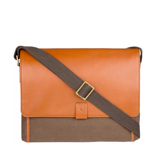 Aiden Canvas Leather Laptop Messenger