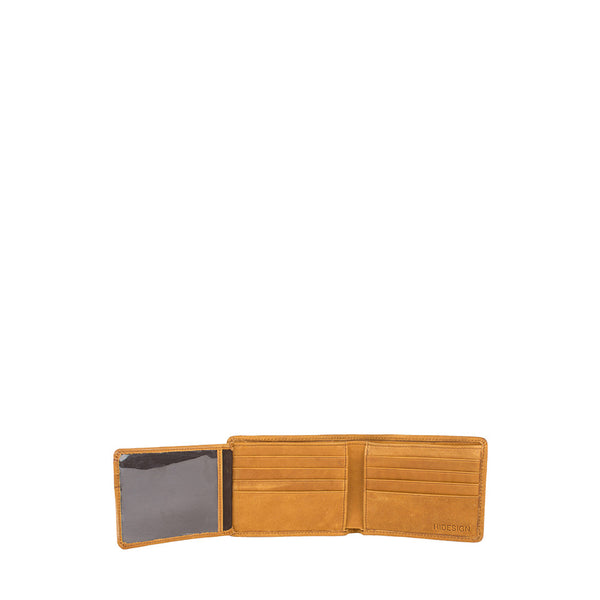 Camel  RFID Blocking Trifold Leather Wallet