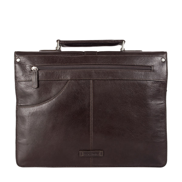 Hudson Men's Large Leather Briefcase