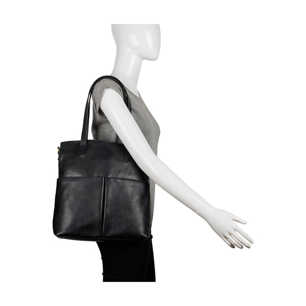 Pepper Medium Leather Tote with Sling Strap