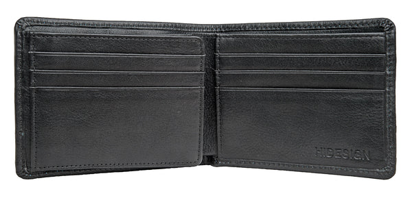 Angle Stitch Leather Multi-Compartment Leather Wallet