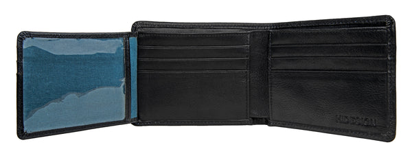 Angle Stitch RFID Blocking Multi-Compartment Leather Wallet