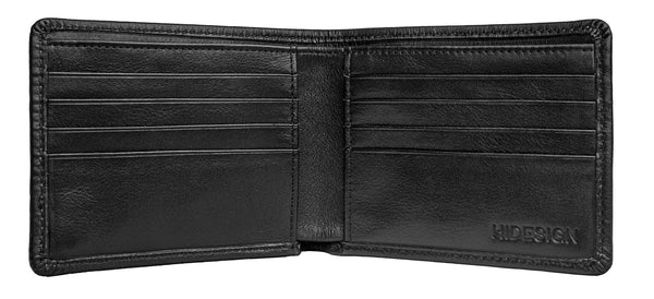 Angle Stitch Leather Slim Bifold Wallet