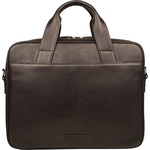 "Aldous Ziptop 15"" Laptop Compatible Leather Work Bag"