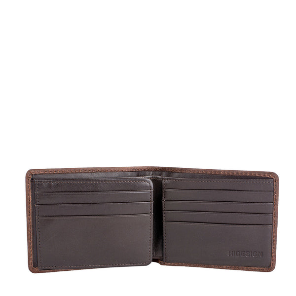 Camel Stitch RFID Blocking Trifold Leather Wallet