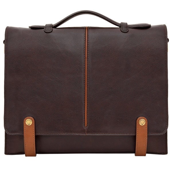 "Eton 15"" Laptop Compatible Leather Briefcase"