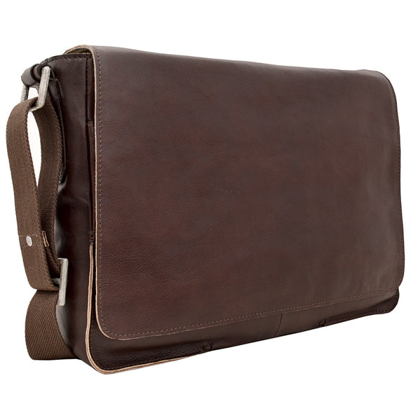 Fred Horizontal Leather Messenger Bag