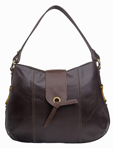 Indus Medium Leather Shoulder Bag
