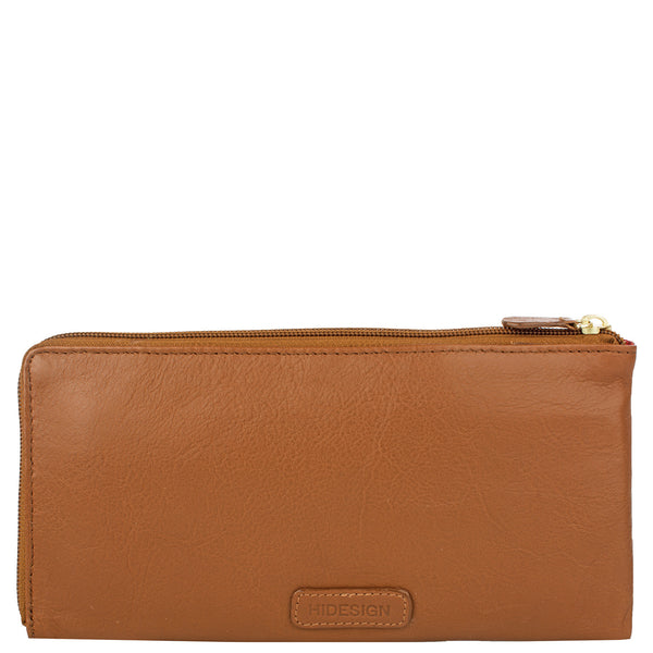 Mina Oversized Zip Around Leather Wallet