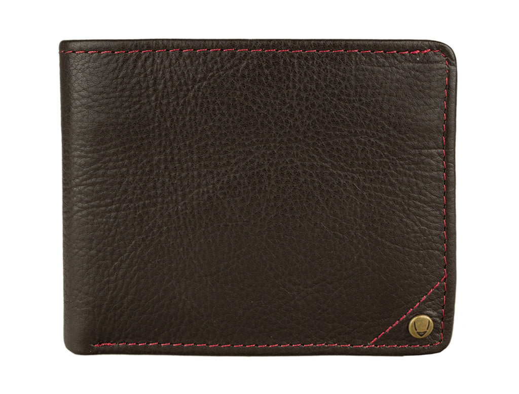 Angle Stitch RFID Blocking Slim Bifold Leather Wallet