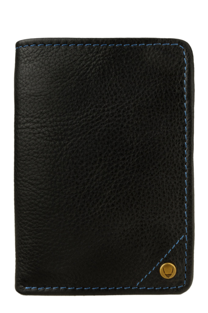 Angle Stitch Leather Slim Trifold Wallet