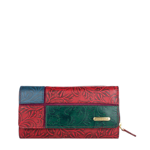 Sindhu RFID Blocking Trifold Leather Wallet