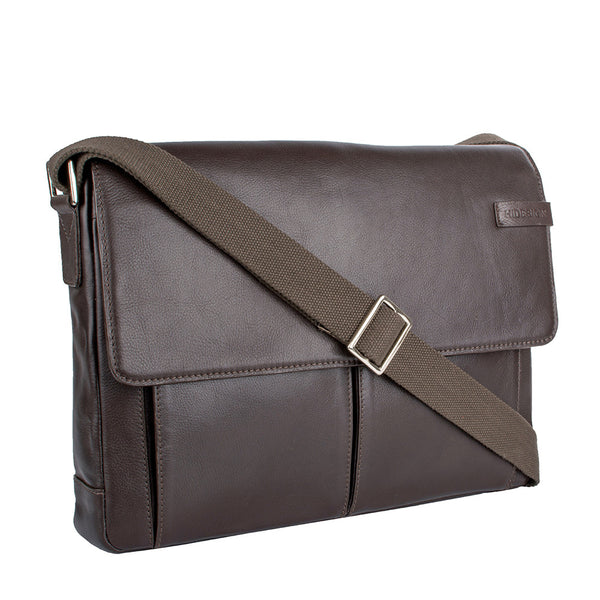 Travolta Medium Leather Messenger