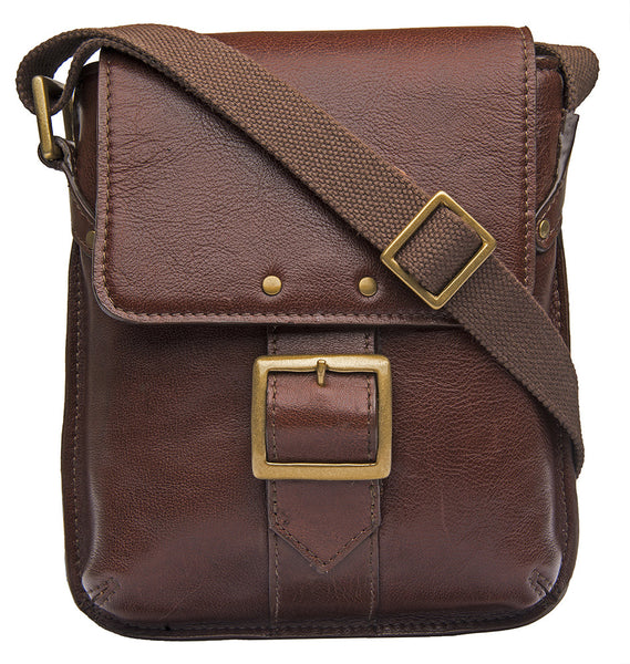 Vespucci Small Unisex Buffalo Leather Crossbody Bag