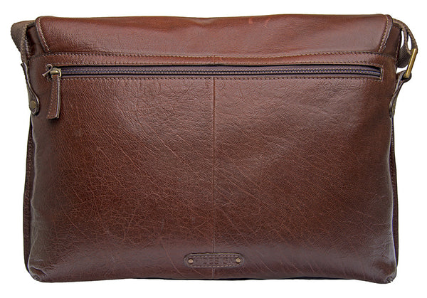 Vespucci Horizontal Buffalo Leather Messenger