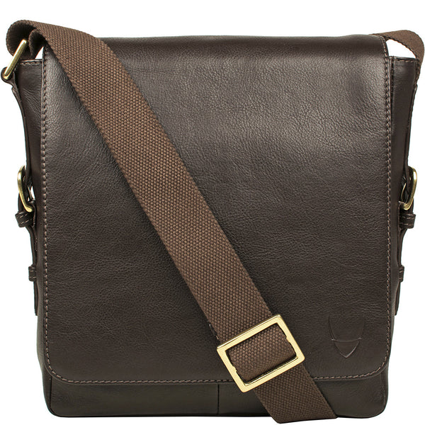 William Vertical Leather Messenger