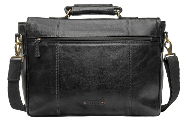 "Parker Medium 15"" Laptop Compatible Leather Briefcase"