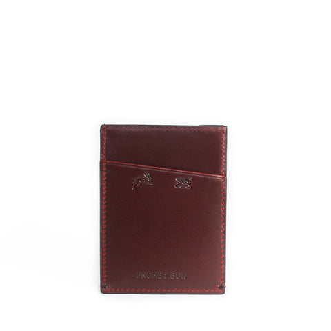 Gnome & Bow FIR CARD SLEEVE - Oxblood - Men's Online Shopping in Singapore | The Assembly Store - 2