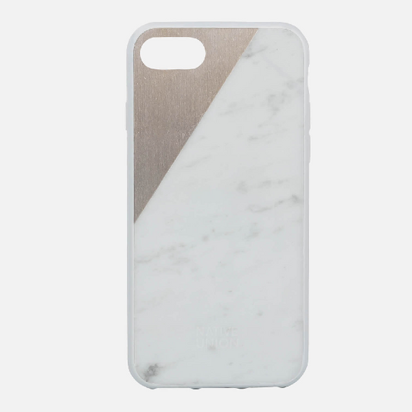 Clic Marble Metal IPhone 7 Case White/Rose