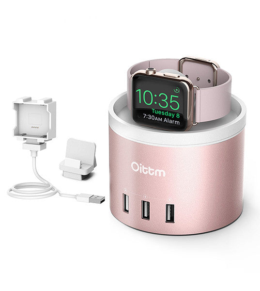 Rose Gold ALUMINIUM CHARGING DOCK, 4-PORT