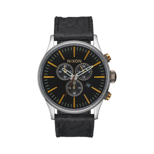 Sentry Chrono Leather Black/Brass