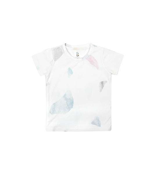 White Print Premium Cotton Tee