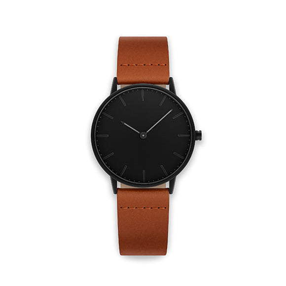 Blackout 36-Brown Leather Watch