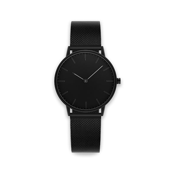 Blackout 36-Stainless Steel Mesh Watch