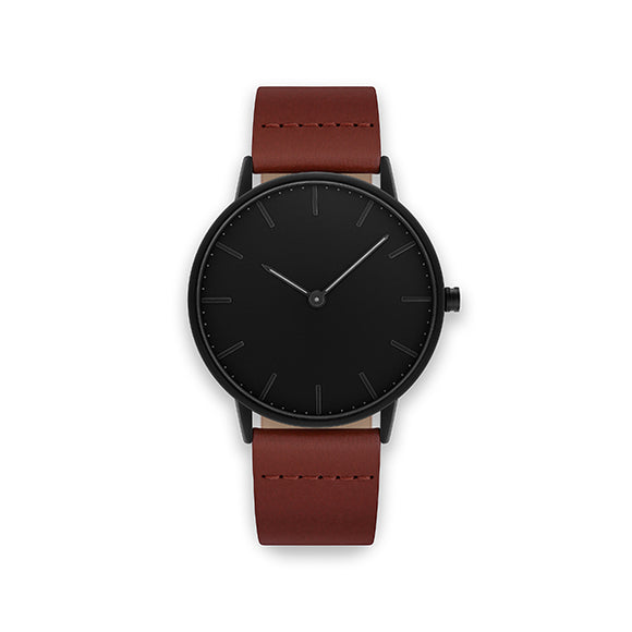 Blackout 40-Brown Leather Watch
