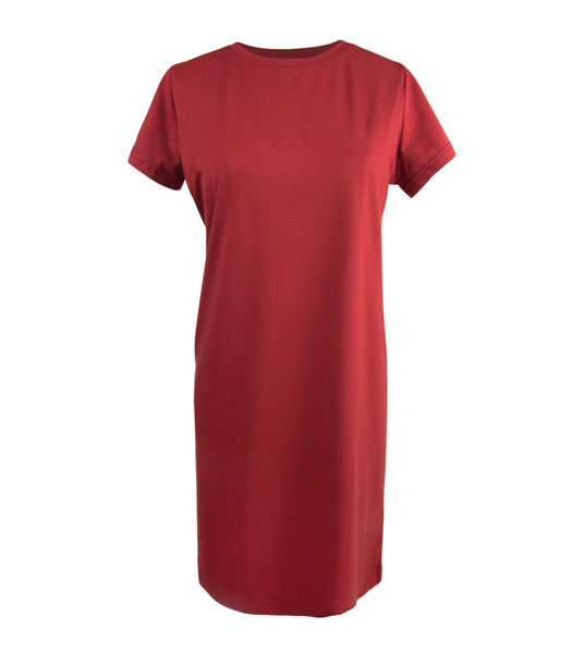 Brick Premium Cotton Tee Dress