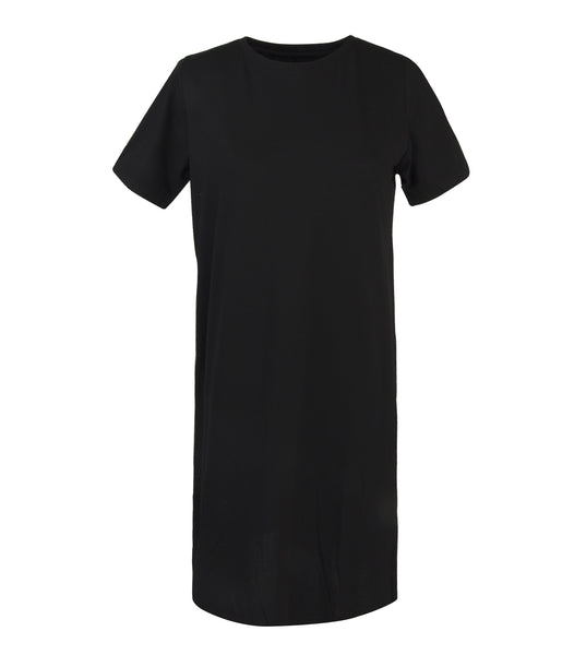 Black Premium Pique Step Tee Dress