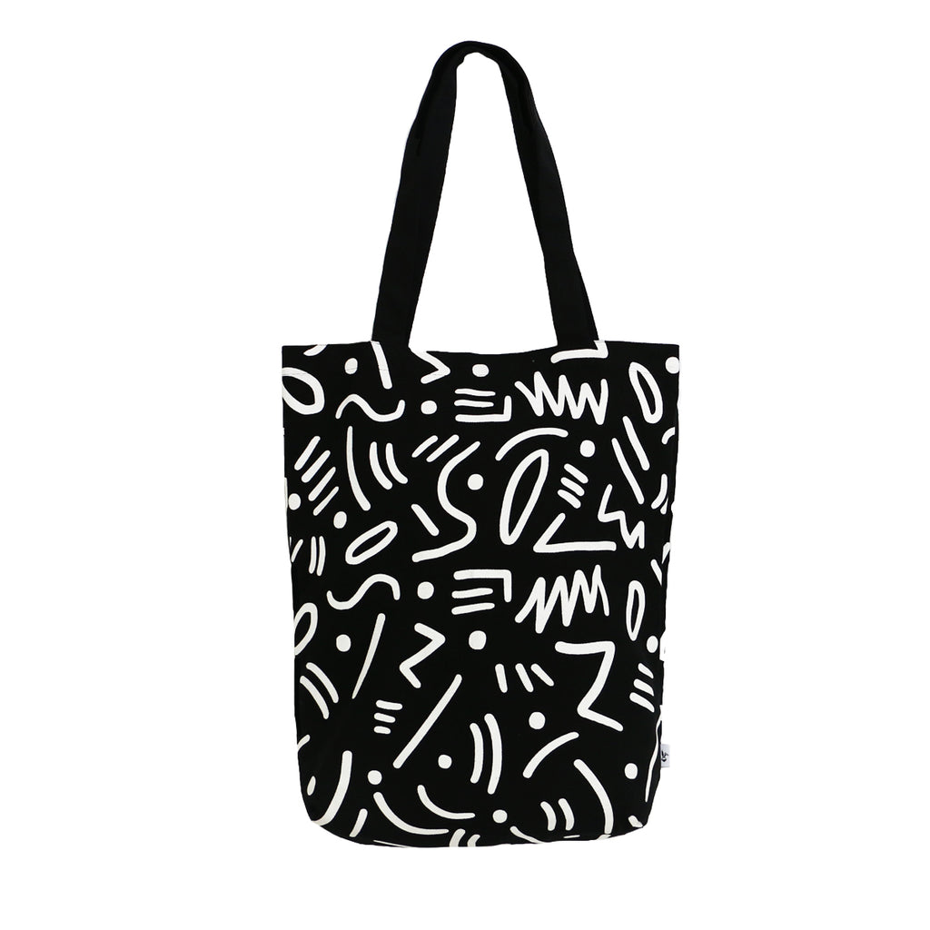 Black Graffiti Tote