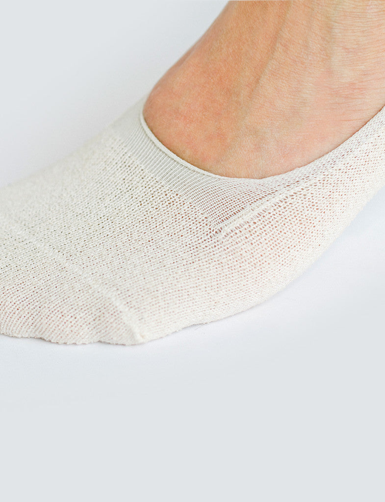 Boucle Invisible Socks Cream
