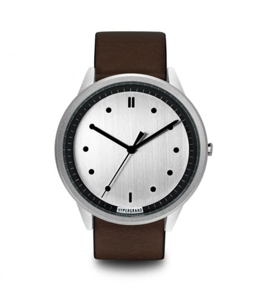 Hypergrand 02 NATO Silver Silver + Classic Brown - Men's Online Shopping in Singapore | The Assembly Store - 1