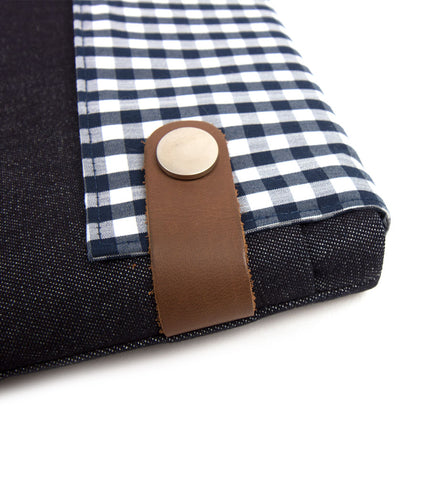 Denim Checked Case