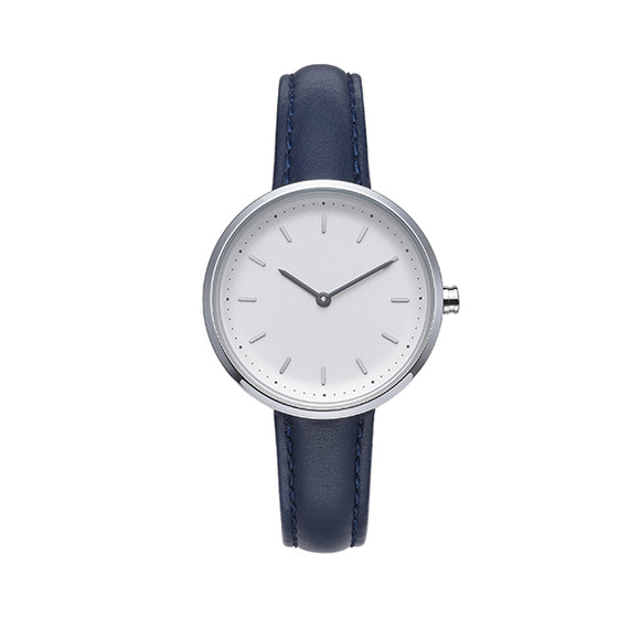 Conc 39-Navy Leather Watch
