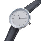 Conc 39-Grey Leather Watch