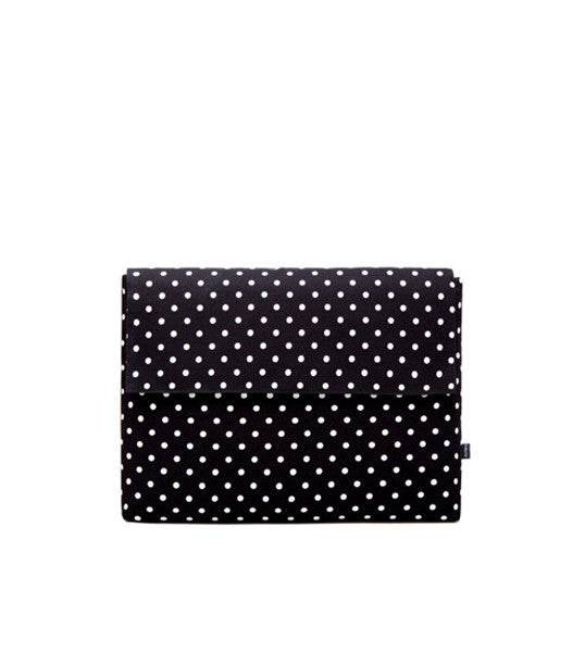 "Deluxe Laptop Case Polka Black 13"" Macbook Pro with Touch Bar"
