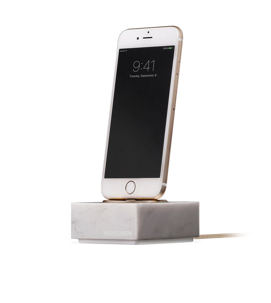White Marble iPhone Dock