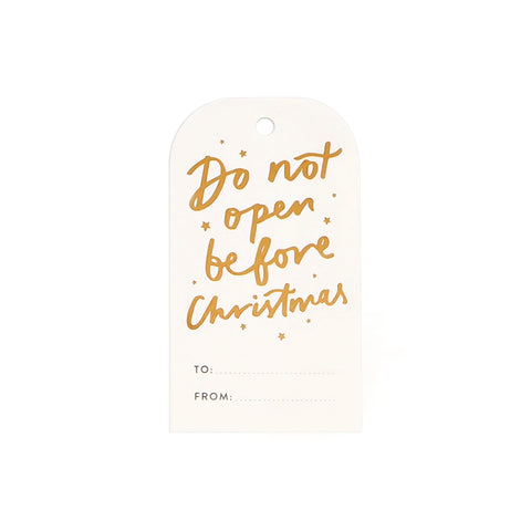Gold Christmas Gift Tags (Set of 8)