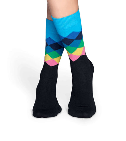 Happy Socks Faded Diamond Sock - Men's Online Shopping in Singapore | The Assembly Store - 2