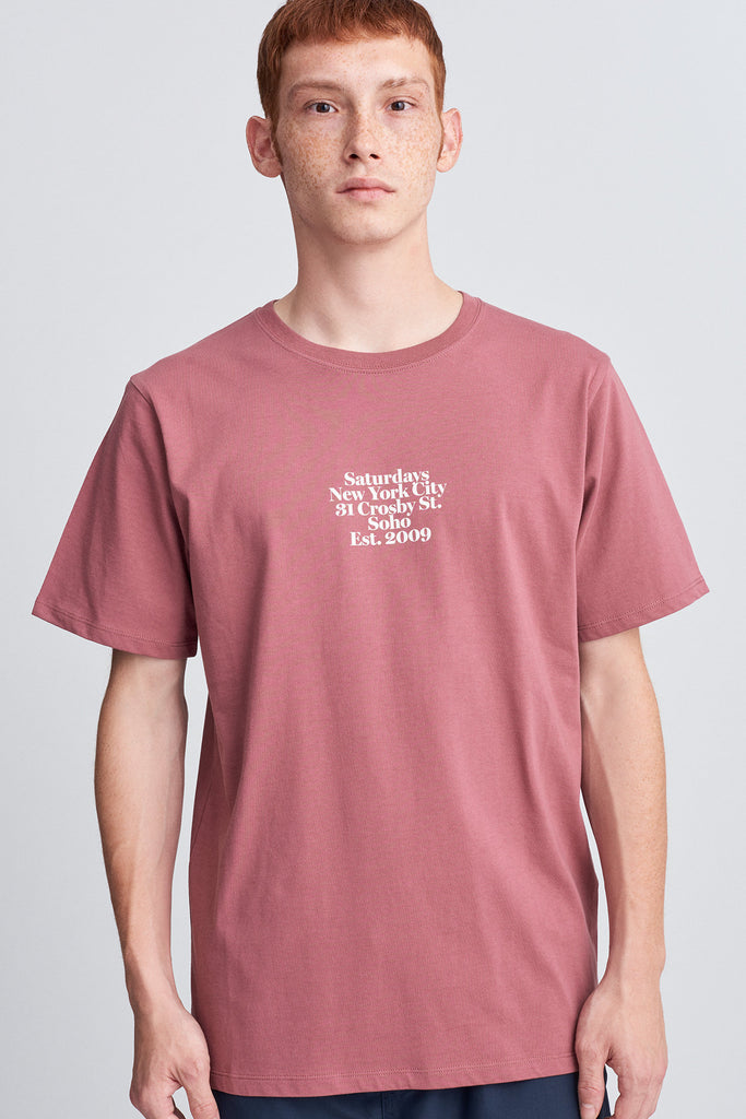Gotham Black Chest T‑Shirt - Light Plum