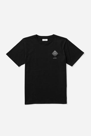Diamond Spiral T‑Shirt Black