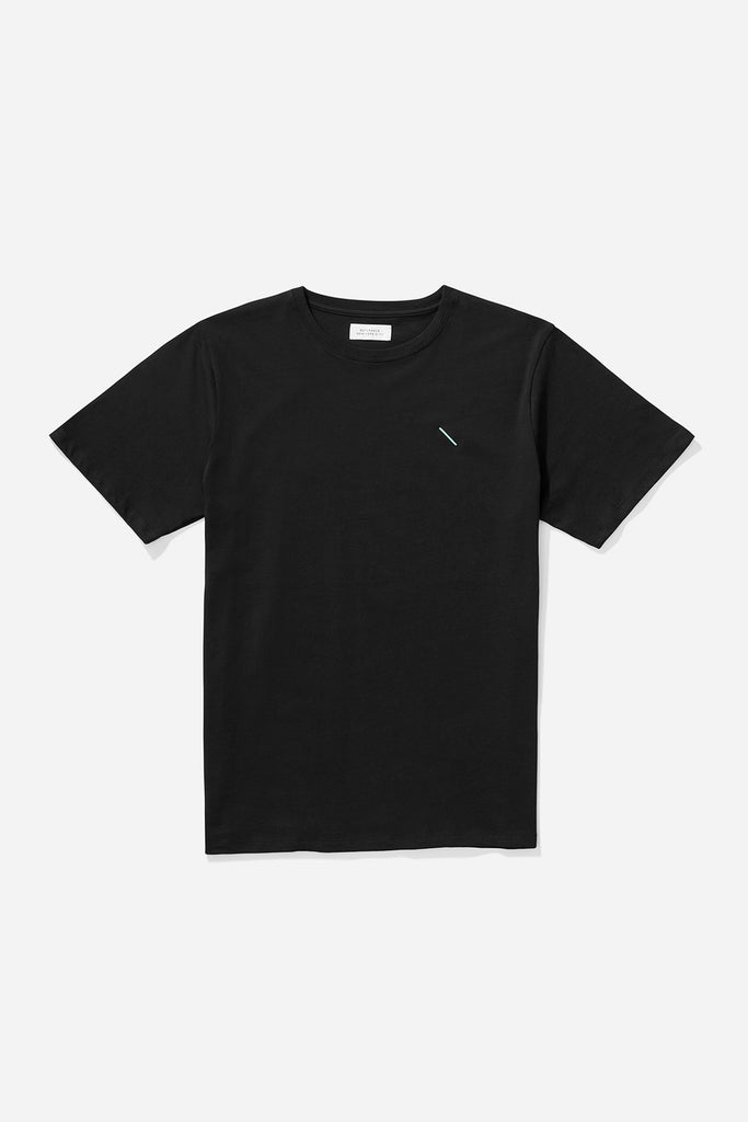 Embroidered Slash T‑Shirt Black/Green