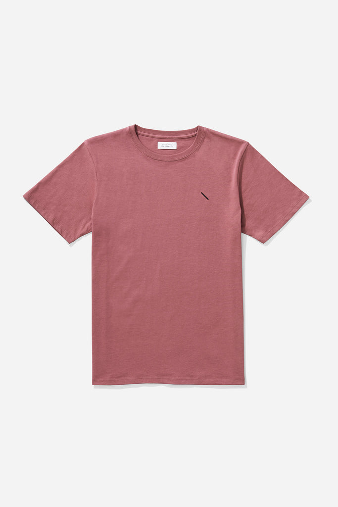 Embroidered Slash T‑Shirt Light Plum