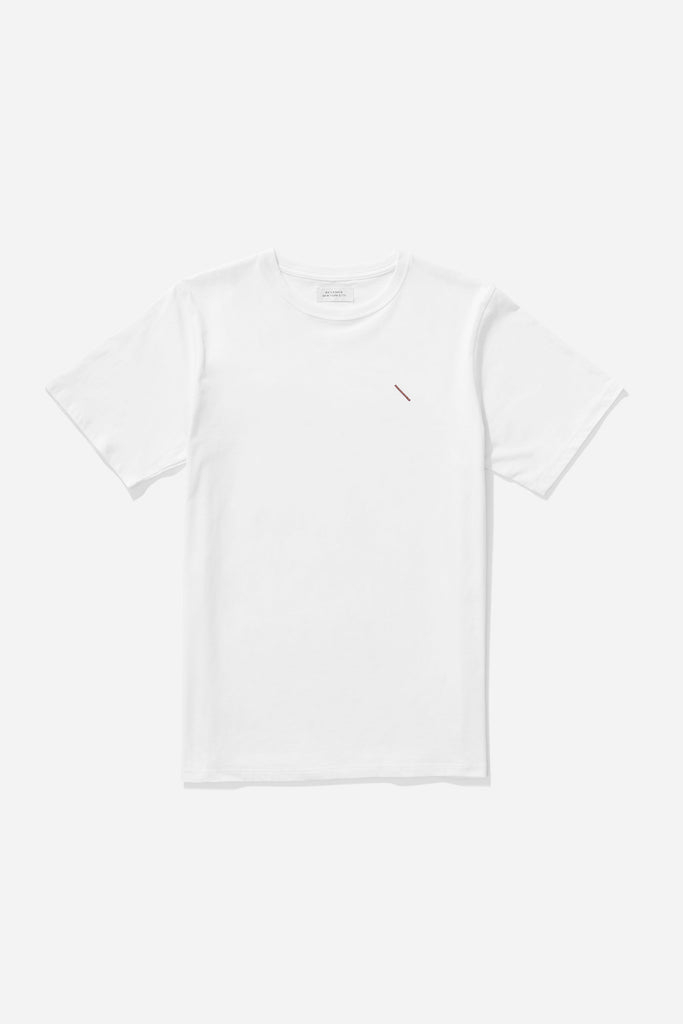 Embroidered Slash T‑Shirt White/Light Plum