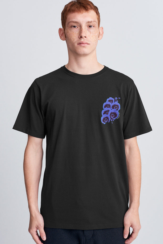 Blue Orchid T‑Shirt Black