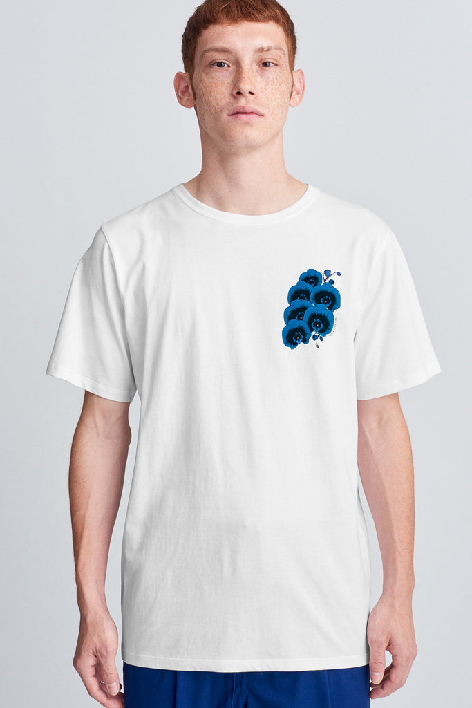 Blue Orchid T‑Shirt White